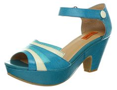 We love this retro teal shoe from Miz Mooz!