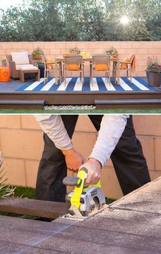 Build a floating deck almost anywhere in your backyard to entertain, dine, or just enjoy some time outdoors. Click to visit The Home Depot Blog for our floating deck tutorial.