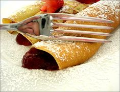 This crepe recipe is adapted from Julia Child's Mastering the Art of French Cooking. Fill the crepes with your favorite fillings -- from savory ham and cheese to fruit filled crepes for breakfasts or desserts. French Pancakes, French Crepes, Crepes Rellenos, Crepe Suzette, Breakfast Recipes, Dessert Recipes, Crepe Recipes, Mardi Gras, Kids Meals