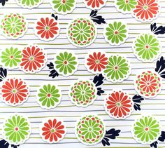 Japanese Stickers Chrysanthemums Washi Paper (S250) Traditional Japanese