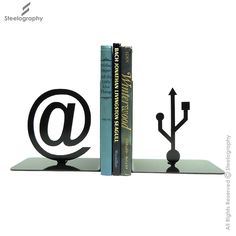 USB Bookend – Steelography