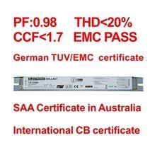 2x55W/58w 2*55w/58w balastro 55w T8 TJB-E258H electronic ballast for fluorescent lamp 3aaa zl-3a electronic ballast 55w 58w