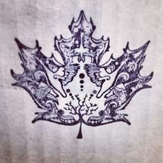 Maple leaf design.  Want this for a tattoo sooo bad.
