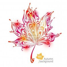 Illustration of abstract autumn leaf background vector art, clipart and stock vectors. Fall Leaves Tattoo, Autumn Tattoo, Autumn Leaves Background, Leaf Background, Body Art Tattoos, Cool Tattoos, Tatoos, Leaf Tattoos, Flower Tattoos
