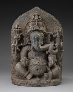 "Ganesha South India, Tamil Nadu Chola period, early 13th century Bronze Dimensions: (height) 50cm (19.69"")"