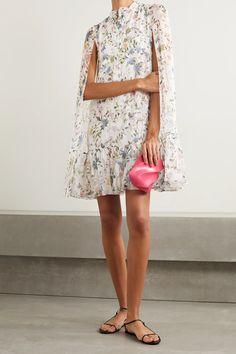 Vogue Online, Erdem, Floral Chiffon, White Mini Dress, Dress Outfits, Casual Outfits, Fashion News, Floral Prints, Menswear
