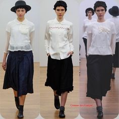 Comme des Garçons Comme des Garçons RTW FW '14  Stylist Picks:  If you are the type who keeps it simple and wears a uniform, look to these perfect white blouses for inspiration.  Source: oncewheniwas.com