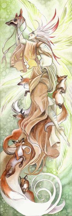 Fantasy Watercolor Demo - free online art instruction