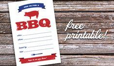 parkside prints :: blog: Free printable: BBQ invitation