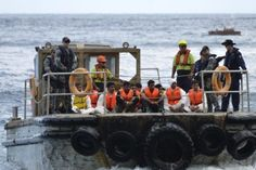 Sailors from the Royal Australian Navy have described the torment and psychological distress of having to fish asylum seeker bodies out of the ocean as part of the country's border protection operations during the Labor government. http://www.canberratimes.com.au/federal-politics/political-news/sailors-talk-of-torment-of-pulling-asylum-seeker-bodies-from-ocean-20141202-11yqag.html