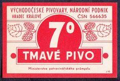 ORIGINAL OLD BEER LABEL CZECH 7 TMAVE PIVO 6X9CM