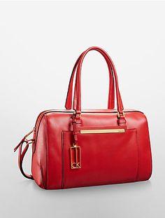 kenner leather sleek satchel
