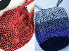 If you are after practical and effortless projects, today`s collection of crochet patterns for Easy Market Bags is just for you. They are reusable, Free Crochet, Knit Crochet, Crochet Purses, Crochet Bags, Crochet Market Bag, Crochet Pumpkin, Crotchet Patterns, Net Bag, Yarn Colors