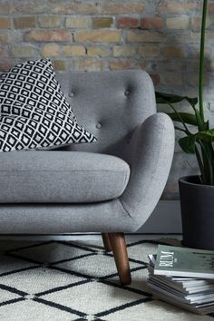 Happy Herman  Herman is a popular, retro-inspired range with a soft, rounded form. The combination of attractive, well thought-out details in the form and the characteristic buttons in the backrest give the Herman it's attractive shape and give it an air of quality and the 1950s.The sofa range comprises an armchair, a 2-seater sofa and 3-seater sofas. Designed by Christian Rudolph  Danish Design | Delivered to You Well Thought Out, 2 Seater Sofa, Danish Design, Sofas, 1950s, Armchair, Range, Christian, Buttons