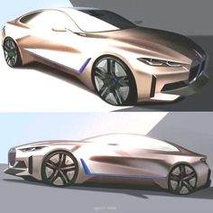 Car Design Caf on Instagram Official sketches of the BMW i4 concept 2020 cardesigncafe cardesignworld #cardesigncafe #cardesignworld #concept #design #instagram #official #sketches Bmw 2, Automotive Design, Sketches, Concept, Car, Instagram, Drawings, Automobile, Vehicles
