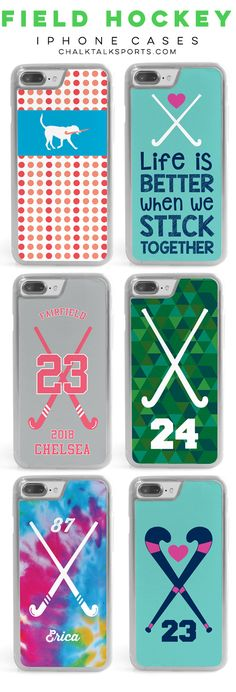 Know a field hockey player that would love one of our custom or personalized iPhone cases to protect and decorate their smart phone? They make amazing end-of-season, player, or coach gifts!