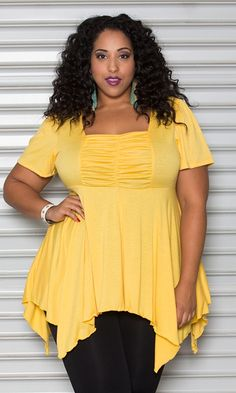 Yellow #babydolltop at Curvalicious Clothes www.curvaliciousclothes.com TAKE 15% OFF Use code: TAKE15 at checkout