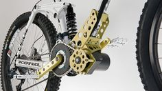 The EGO-Kit is an electric motor that can be added to downhill mountain bikes for powering them up to the tops of mountains (Photo: EGO-Kits) E Bicycle, Lowrider Bicycle, Mtb Bike, Bicycle Design, Electric Bike Kits, Electric Motor, Electric Vehicle, Eletric Bike, E Bike Kit