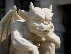 We consider these large gargoyles to be our campus guardians.