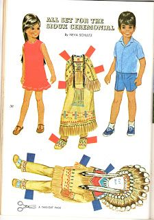 Miss Missy Paper Dolls: All set for the Sioux Ceremonial