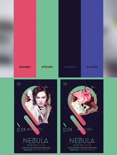 Color palette inspiration for WordPress and web design