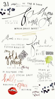 hand writing....I love hand writing...here, especially love the way 'food' is written. (Close to the middle)