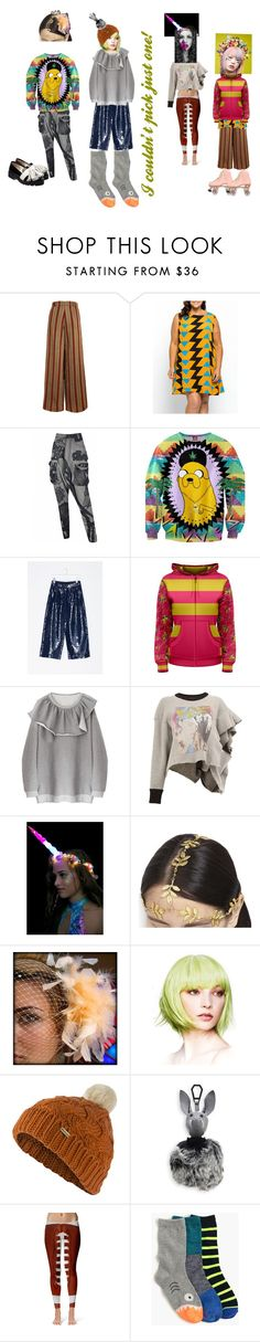 """""""Ouch! That Hurts: I couldn't pick just one!"""" by bluehatter ❤ liked on Polyvore featuring Rundholz, Von Sono, Maison Margiela, J. Valentine, AURA Headpieces, Topshop, Barbour, Kendall + Kylie and Anouki"""