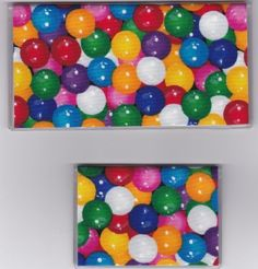 """Big Bright Bubble Gumballs Checkbook Cover Set by Tickled Pink Boutique. $9.50. Fun and functional for every day use without paying a designer price for a designer name!  The sturdy clear PLASTIC 12 gauge lightweight VINYL COVER encases a fabric bonded design. Measuring 6 1/4"""" x 3 1/4"""",  the checkbook cover fits all standard bank checkbooks and banking registers.  All checkbook covers come with a register flap and a duplicate check flap just like the bank.    T..."""
