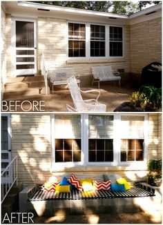 How to make an outdoor cinder block bench