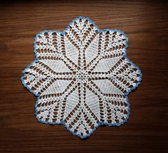 Vintage Crochet Lace Doily Snowflake Doily Crocheted Doily