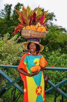 Fruit for Sale - Lady selling fruit in Grenada