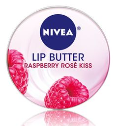 Nivea Lip Butter.  Indulge in the sweetness of a Raspberry Rosé.