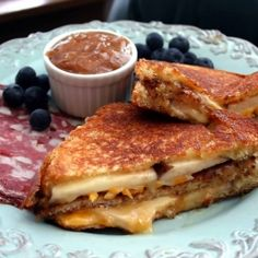 Brie, nectarines and truffle oil combine to make an updated grilled cheese.