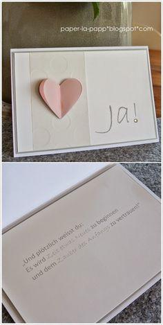 Ja! Yes! Qui! Si! Hochzeitskarte Stampin up