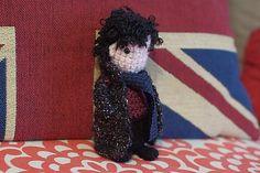 Sherlock Holmes Doll (from BBC's Sherlock) ~ Free Amigurumi Pattern PDF File Cute Crochet, Crochet Dolls, Nerd Crafts, Diy Crafts, Amigurumi Patterns, Crochet Patterns, Craft Images, Sherlock Bbc, Learn To Crochet