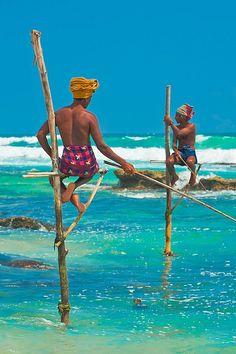 Stilt fishermen. Sri Lanka. #travel #photography