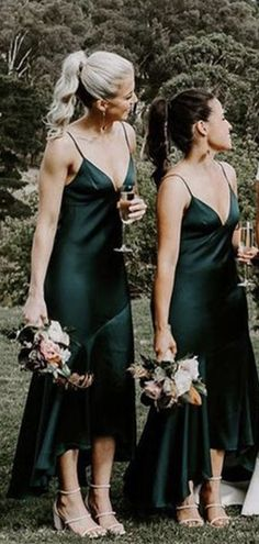 Green Satin Dress, Satin Dresses, Slip Bridesmaids Dresses, Dress Making, Silk, Color, Wedding Ideas, Future, Fashion