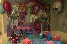 Monster High Birthday Party decos