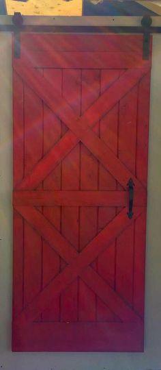 Red Sliding Barn Door modern rustic sliding barn door with metal trimrecowarehouse