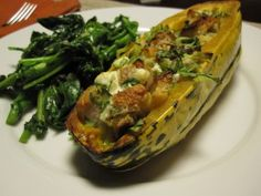 Dark Days Challenge: Stuffed Delicata Squash with Leeks and Goat Cheese