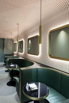 Loading… - New ideas Deco Design, Cafe Design, House Design, Design Design, Architecture Restaurant, Interior Architecture, Commercial Design, Commercial Interiors, Retro Cafe