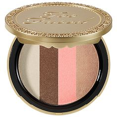 Too Faced - Snow Bunny Luminous Bronzer - Snow Bunny - golden bronze/ delicate pink/ white/ fawn glimmer #sephora