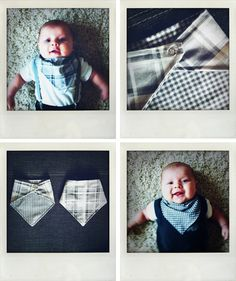 reversable bibs for the drool monster, so much cuter than reg bibs all the time.