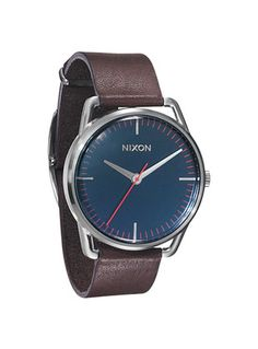 Nixon's men's leather watch. Must have...