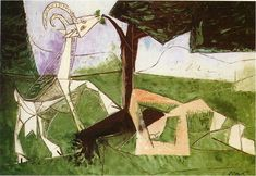 """""""Spring"""", Oil On Canvas by Pablo Picasso (1881-1973, Spain)"""