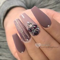 35 2019 Hot Fashion Sarg Nagel Trend Ideen - Coffin Nails - Coffin Fashion Hot Ideen N gel Nails Sarg Trend Mauve Nails, Glam Nails, Fun Nails, Nail Pink, Orange Nail, White Nails, Silver Nail, Orange Pink, Fabulous Nails