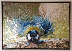 """L'Arte di Volare (The Art of Flying) 2014 Mireille Swinnen  Ulbeek, Belgium H 24.50"""" W 34.00"""" D 1.00"""" Smalti and Orsoni gold smalti"""