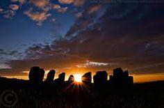 Drombeg Stone Circle at sunset, Co. Cork