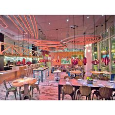 Restaurant Pendant Lighting Emits a Welcoming Glow ❤ liked on Polyvore featuring home, lighting, ceiling lights, red pendant lights, red hanging lamp, red pendant light, red lights and red lamp