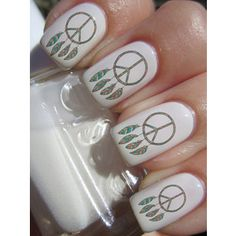 peace    sign            nails | Dreamcatcher Peace Sign Nail Decals 36 Ct.